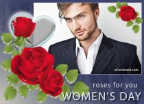 eCards Women's Day Women's Day Beautiful Roses, Women's Day Beautiful Roses