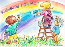 eCards Mother's Day Rainbow for Mom, Rainbow for Mom