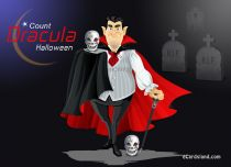 Free eCards, Halloween ecards free - Count Dracula,