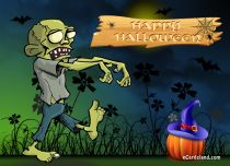 Free eCards Halloween - Danger Zombies,