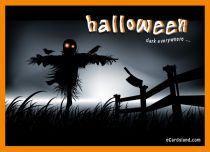 eCards Halloween Dark everywhere, Dark everywhere