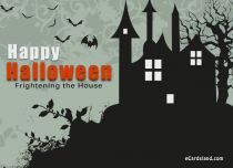 eCards Halloween Frightening the House, Frightening the House