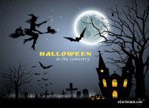 eCards Halloween Halloween at the Cemetery, Halloween at the Cemetery
