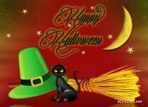 eCards Halloween Halloween Black Cat, Halloween Black Cat