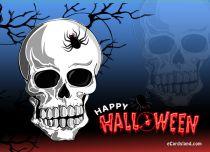 eCards  Halloween Skull,