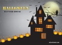eCards Halloween Haunted House, Haunted House