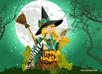Free eCards Halloween - Joyful Witch,