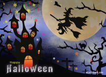 Free eCards - Magical Halloween Night