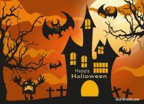 eCards Halloween Scary House, Scary House