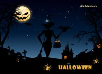 eCards Halloween Dark Halloween Night, Dark Halloween Night