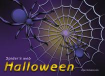 eCards Halloween Spider's web, Spider's web