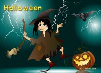 eCards Halloween Witch, Witch