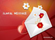 eCards Name Day Floral Message, Floral Message